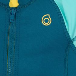 Top thermique néoprène 500 manches courtes Junior turquoise
