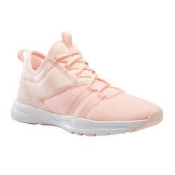 Fitnessschoenen voor dames 120 koraalrood