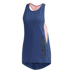 Débardeur cardio fitness femme bleu