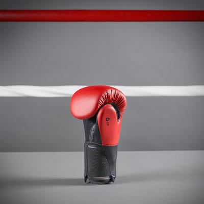Kids' Boxing Gloves 100 - Red