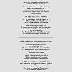 Gilet doudoune sans manche en ouate de trek montagne - TREK 500 marine - homme
