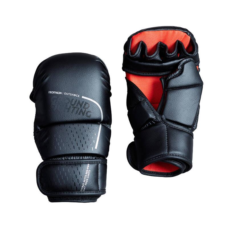 BOXERSKÉ RUKAVICE Box a kickbox - BEZPRSTOVÉ RUKAVICE 500 OUTSHOCK - Rukavice a bandáže na box