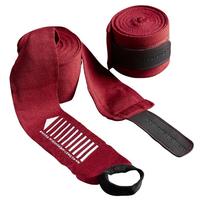 Bandázs és alákesztyű Box és harcművészet - Bandázs boxhoz, 4 m, piros OUTSHOCK - Box