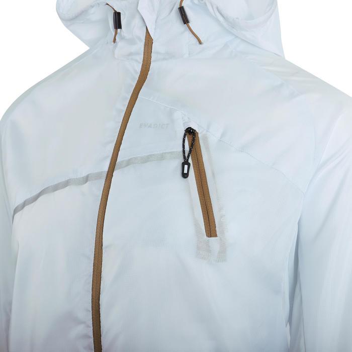 Women's windproof trail running jacket Blue Grey