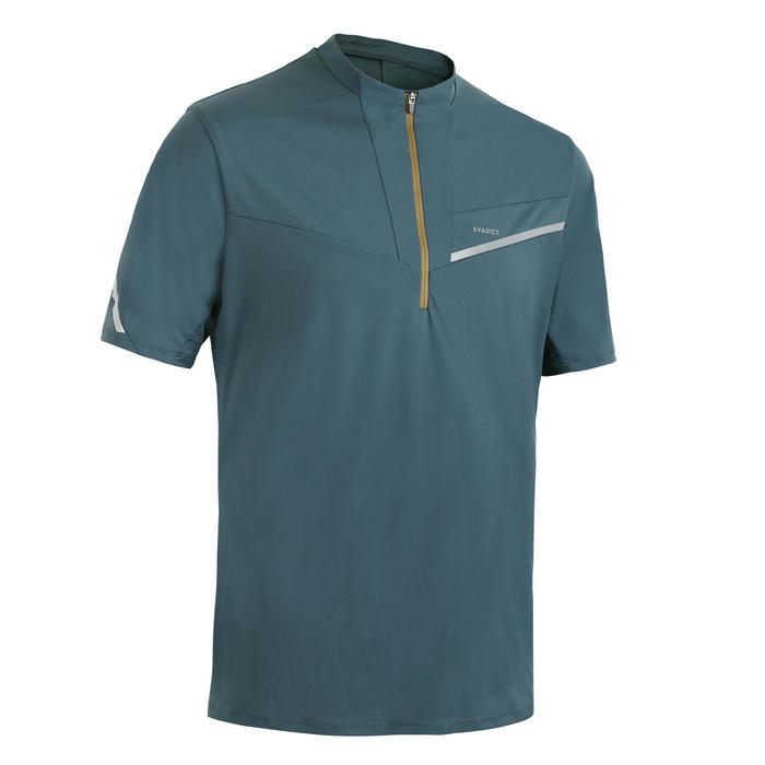 Short-sleeved men's trail running T-shirt - Grey