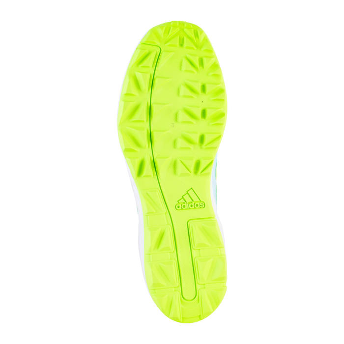 Chaussures de hockey sur gazon adulte intensité forte Adipower bleu clair