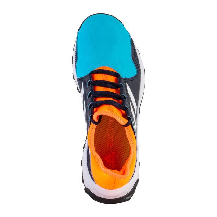 Hockeyschoenen voor tieners gemiddeld intensief Youngstar blauw/oranje