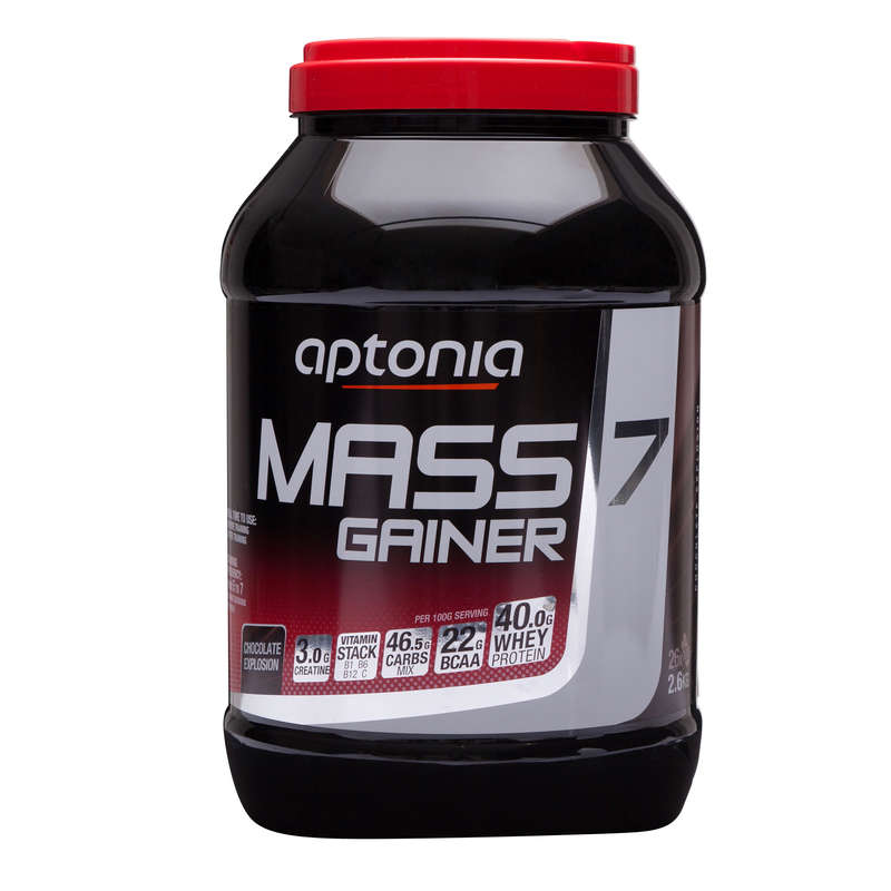 PROTEIN & KOSTTILLSKOTT Kost och Hälsa - MASS GAINER 7 choklad 2,6 kg APTONIA - Proteinpulver
