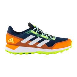 Chaussures de hockey homme intensité moyenne à forte Zone Dox 1.9S bleu orange