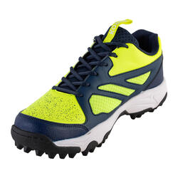 Chaussures de hockey sur gazon adulte intensité faible FH100 jaune bleu