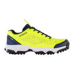 Hockeyschoenen voor volwassenen laag intensief FH100 geel/blauw