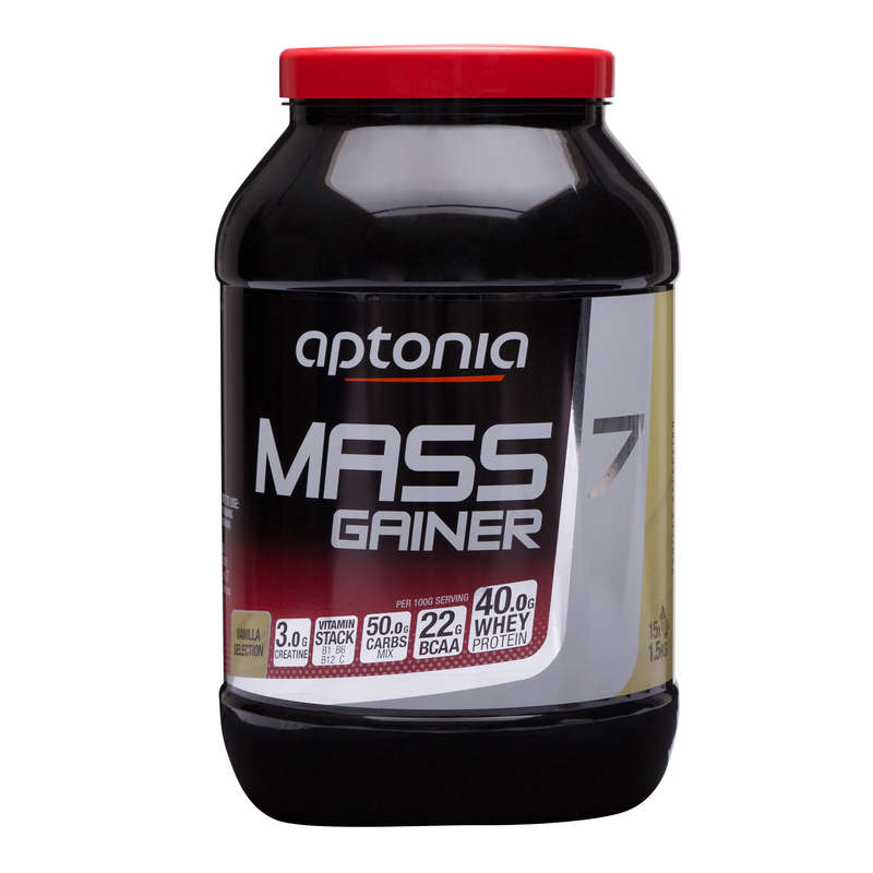 PROTEINS AND SUPPLEMENTS Boxing - Mass Gainer 7 1.5kg Vanilla APTONIA - Nutrition