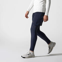RUN DRY+ MEN'S TIGHTS - PETROL BLUE