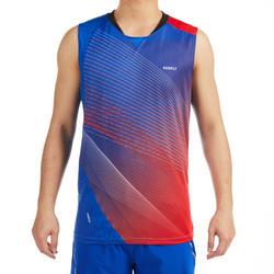 男款T恤990藍紅配色