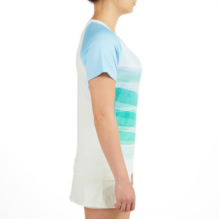 T-Shirt Femme 560 - Blanc/Vert/Bleu