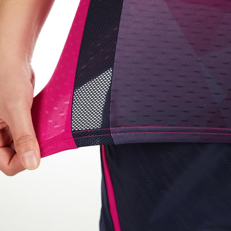 เสื้อยืดสำหรับผู้หญิงรุ่น 560 (สีชมพู/กรมท่า)