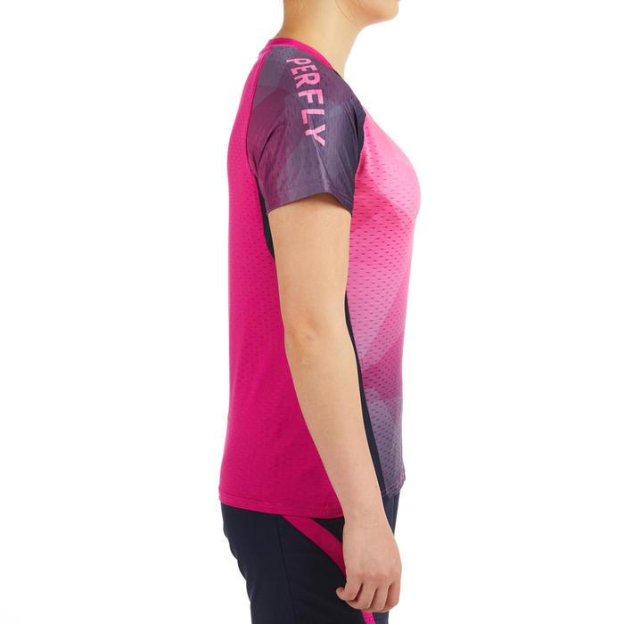 Badmintonshirt voor dames roze/marineblauw