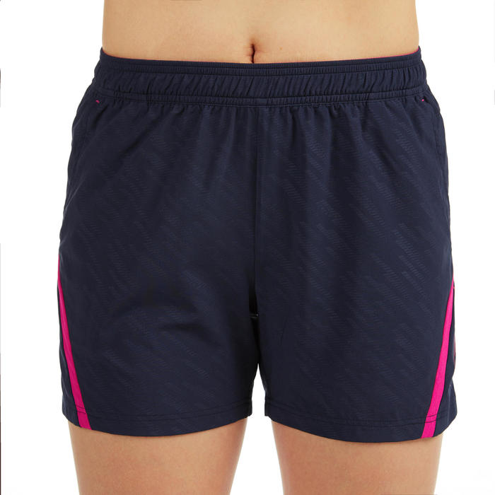 女款短褲560-軍藍及粉紅配色