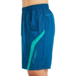 男款短褲560-藍綠色
