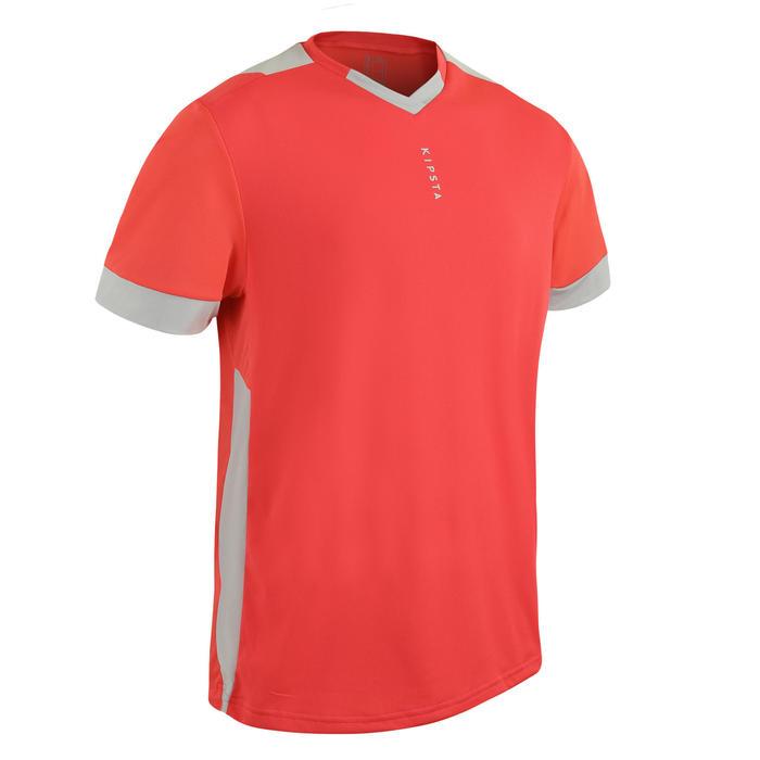 成人款足球上衣F500 - 紫紅色