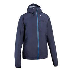 男款防水極速健行外套FH500 Helium Rain-藍色/黑色