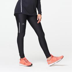 RUN DRY WOMEN'S RUNNING TIGHTS - BLACK
