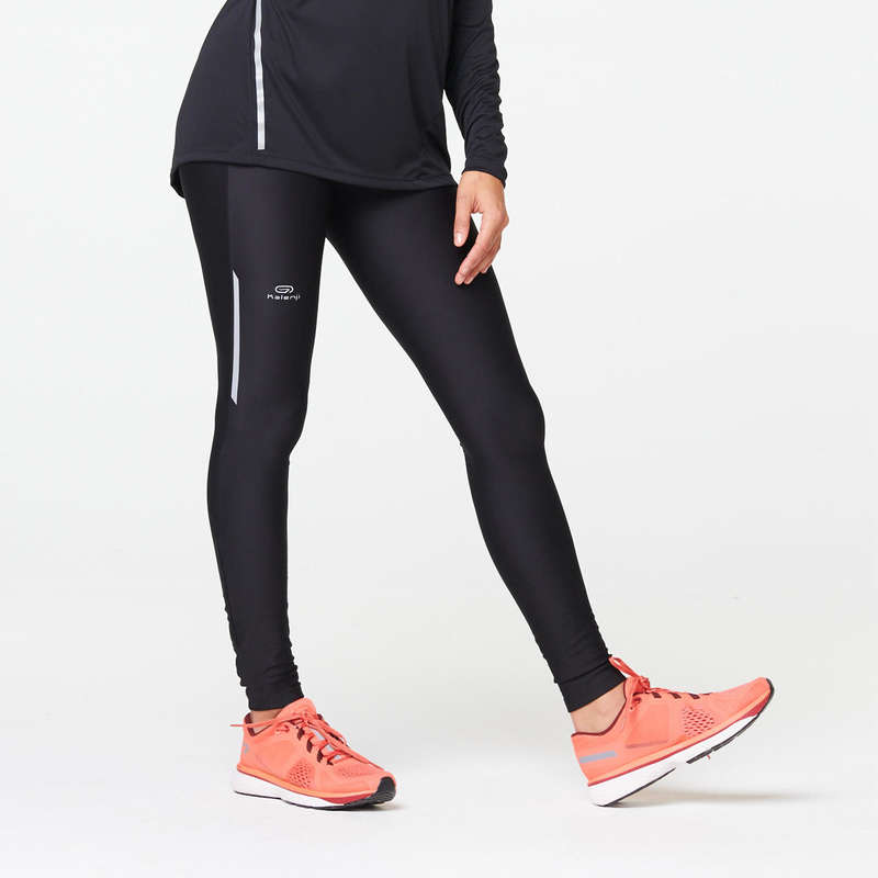 ABBIGLIAMENTO TRASPIRANTE DONNA RUNNING OCCASIONALE Running, Trail, Atletica - Pantaloni donna RUN DRY neri KALENJI - Abbigliamento Running