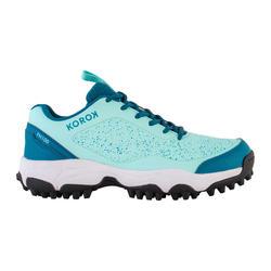 Chaussures de hockey sur gazon adulte intensité faible FH100 turquoise bleu
