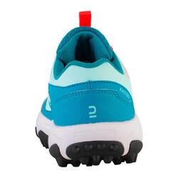 Calçado Hóquei em Campo Adolescente Baixa/Média Intensidade FH100 Turquesa/Azul