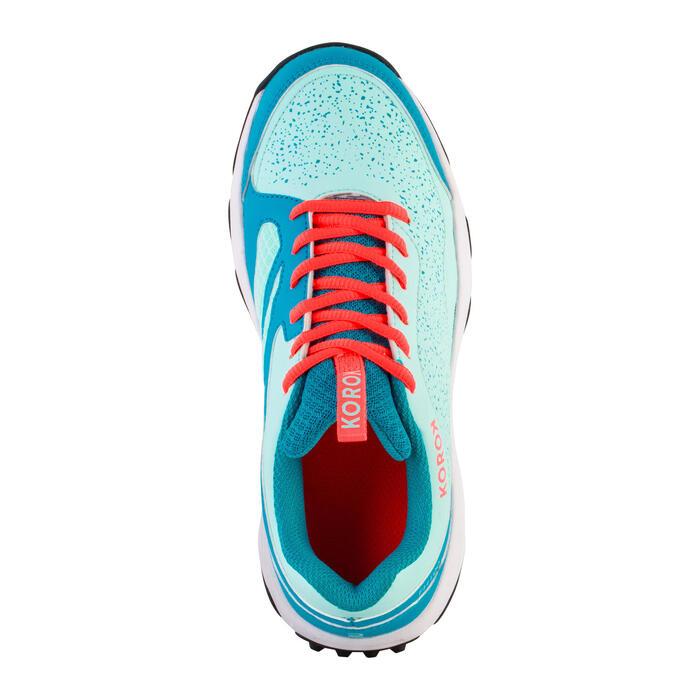 Hockeyschoenen tieners laag tot gemiddeld intensief spelen FH100 turquoise/blauw