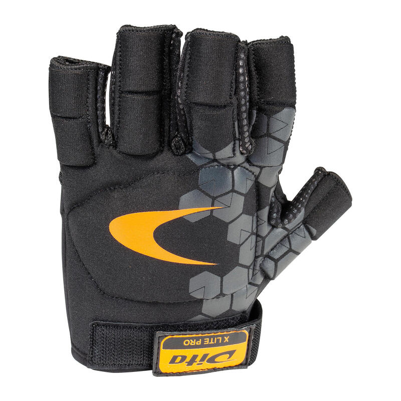 Kids'/Adult Moderate-Intensity 2 Knuckle Hockey Gloves Xlite Pro - Black/Orange
