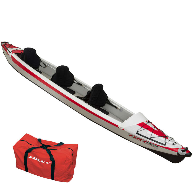 TOURING INFLATABLE CANOE KAYAKS Kayaking - YAKKAIR FULL HP 3 BIC KAYAK BIC - Kayaks