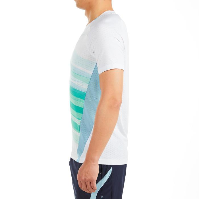 男款T恤560白色綠色及藍色配色