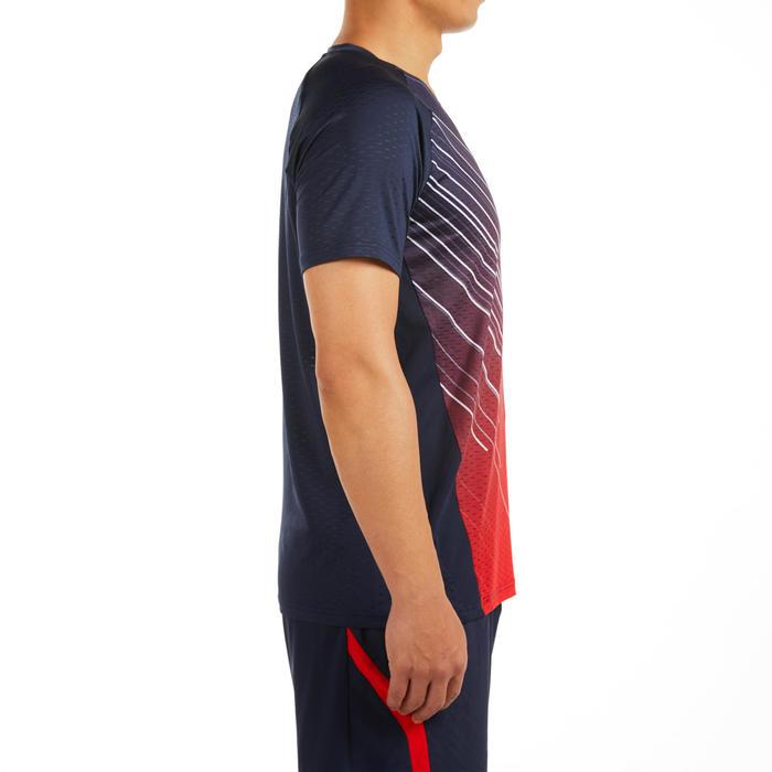 男款T恤560軍藍及紅色配色