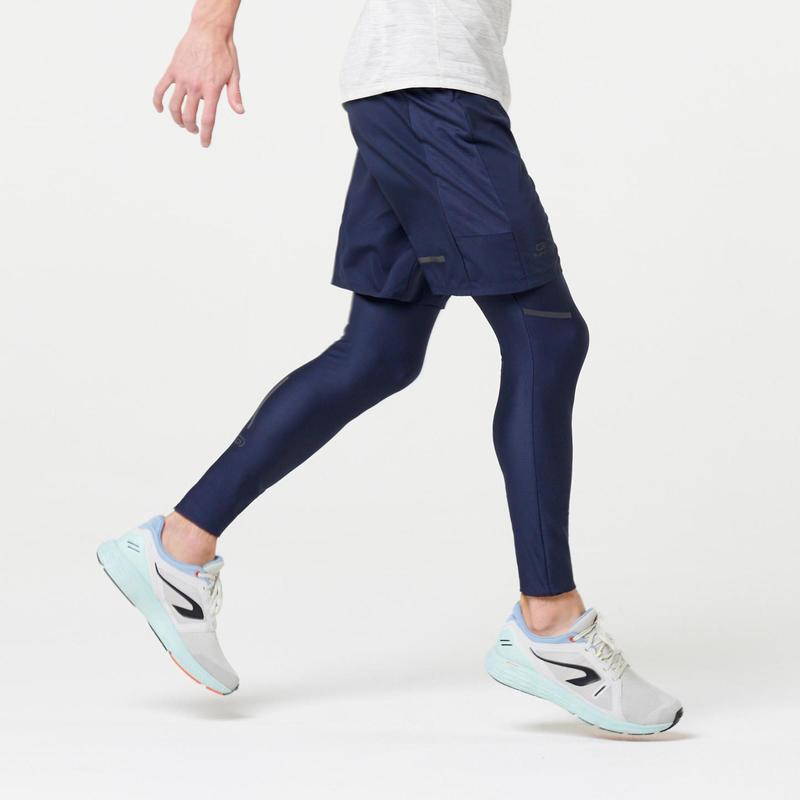 SHORT DE RUNNING HOMBRE RUN DRY + Azul