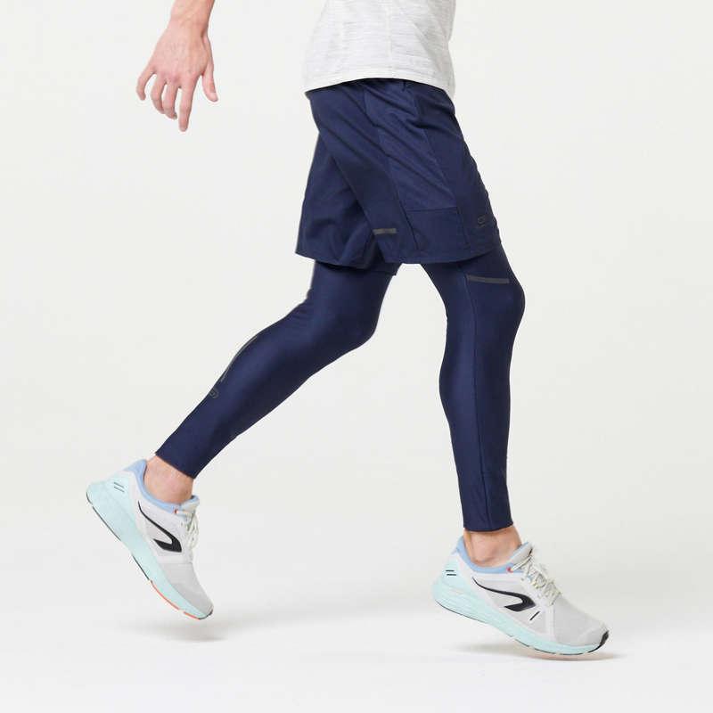 REGULAR MAN JOG WARM/MILD WTHR CLOTHES Clothing - RUN DRY+ MEN'S SHORTS BLUE KALENJI - Bottoms