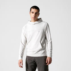 SWEAT RUNNING A CAPUCHE HOMME RUN DRY+ beige