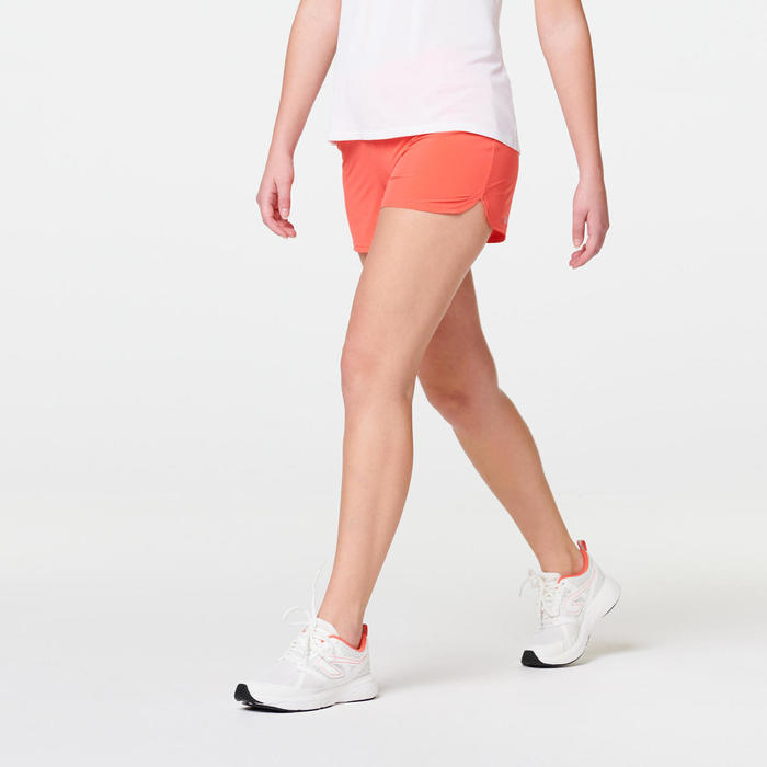 SHORT JOGGING FEMME RUN DRY ROSE CORAIL
