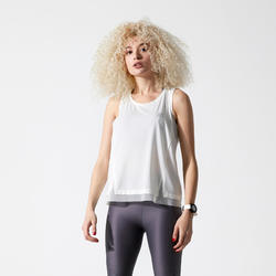 DEBARDEUR RUN FEEL JOGGING FEMME BLANC