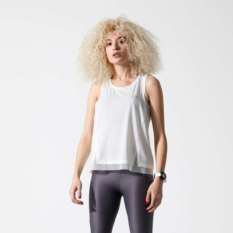 Női légáteresztő ruházat Futás - Női ujjatlan felső RUN FEEL KALENJI - Minden ami futás