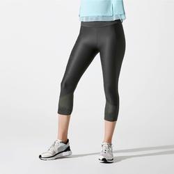Joggingkuitbroek voor dames Run Dry+ Feel donkerkaki