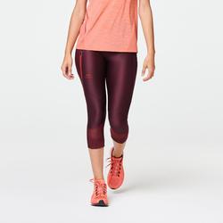 Joggingkuitbroek voor dames Run Dry+ Feel bordeaux