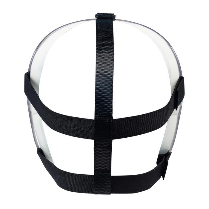 Masker voor veldhockey volwassenen PC alle intensiteiten Grays transparant