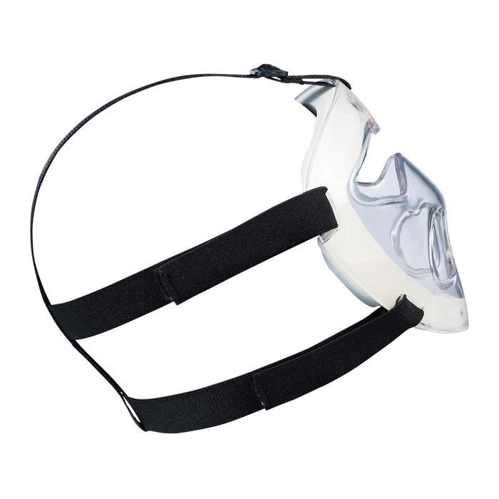 Masker voor veldhockey kinderen PC alle intensiteiten Grays transparant