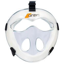 Masker voor veldhockey kinderen PC alle intensiteiten Grays transparant