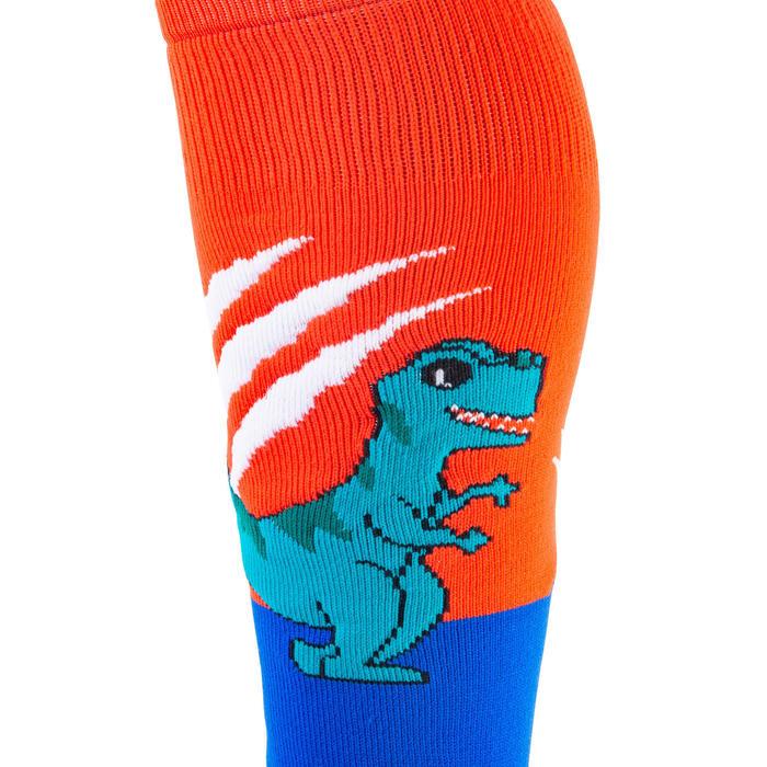 Chaussettes de hockey sur gazon enfant FH500 dinosaure