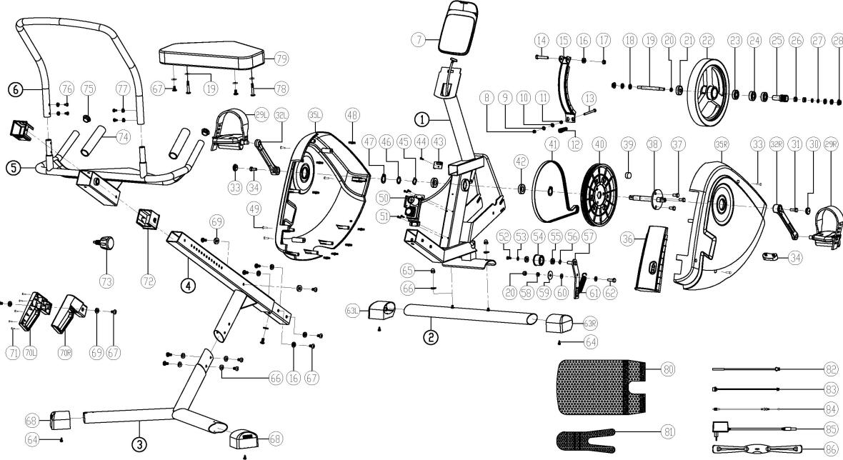 exploded view e seat