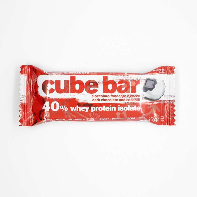 PROTEINE E COMPLEMENTI ALIMENTARI Proteine mantenimento muscolare - Barretta cube bar ciocco cocco ISUPPLEMENTS - Boutique alimentazione 2019