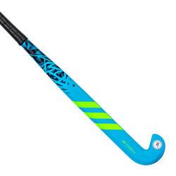 Stick de hockey ado fibre de verre extra low bow DF24 Compo 6 bleu vert