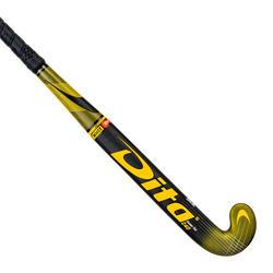 Hockeystick voor tieners expert 40% carbon low bow Carbotec Pro 40 verguld zwart